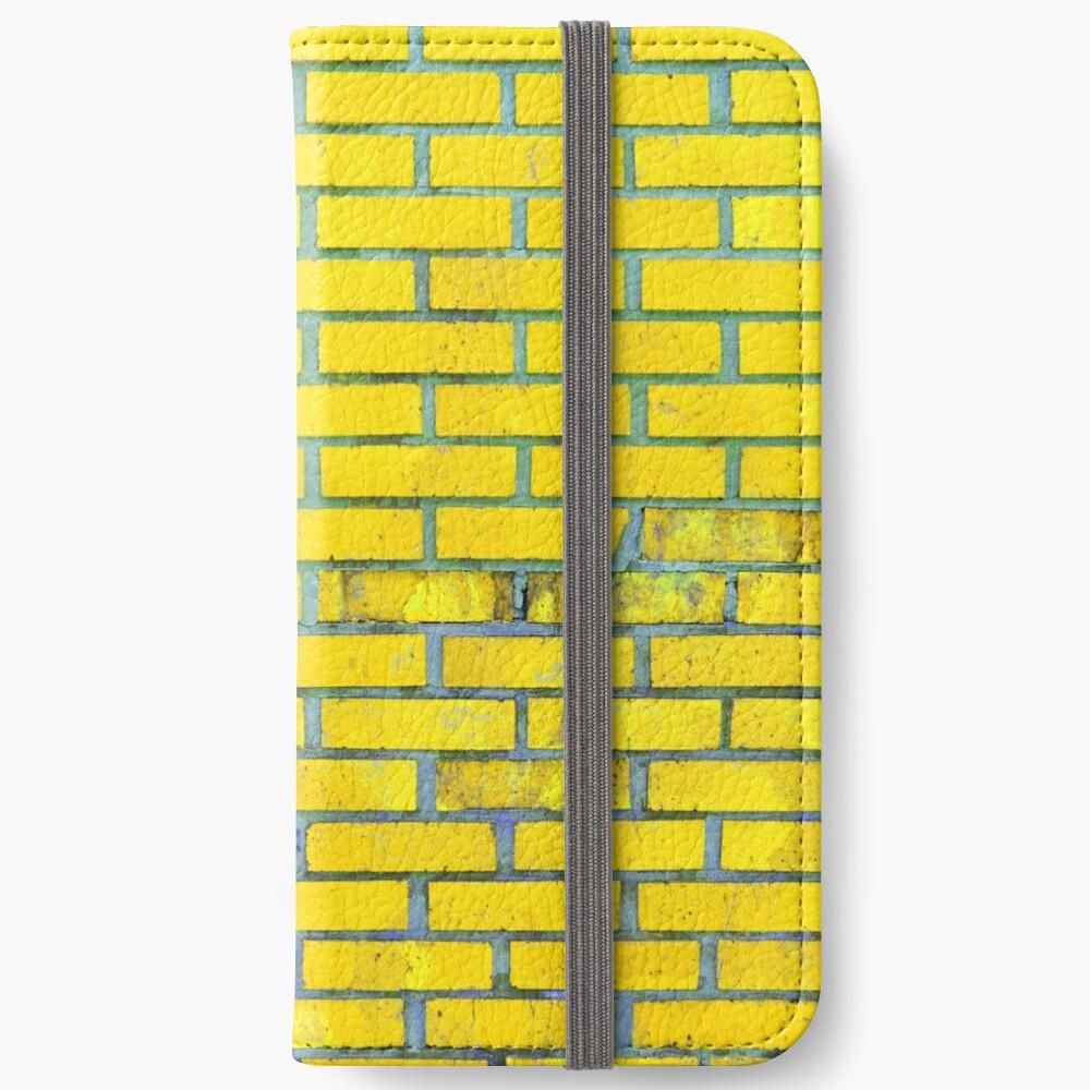 Yellow bricks iPhone Wallet