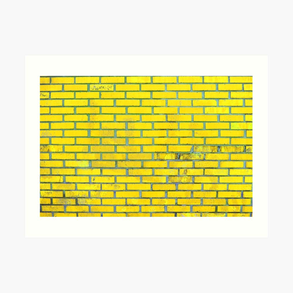 Yellow bricks Art Print