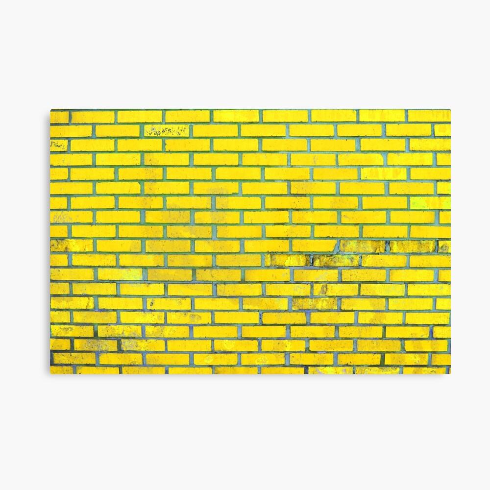 Yellow bricks Canvas Print