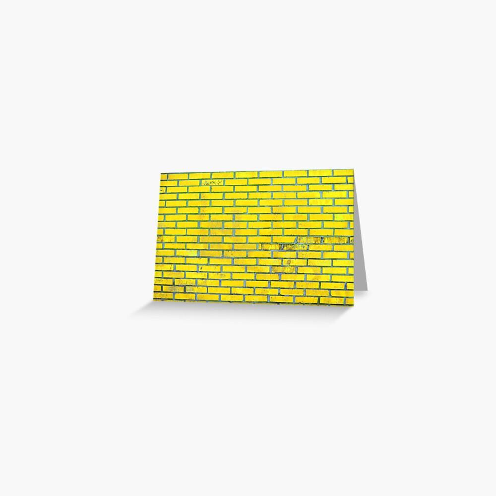 Yellow bricks Greeting Card