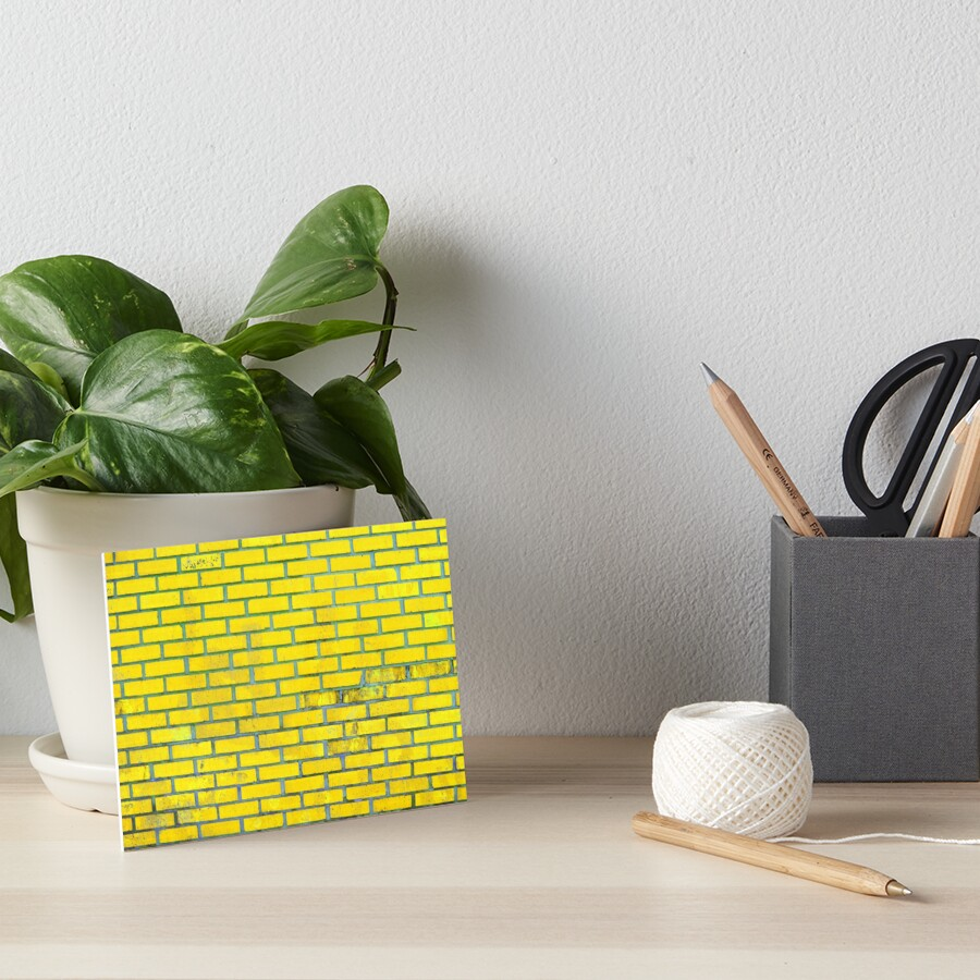 Yellow bricks Art Board Print