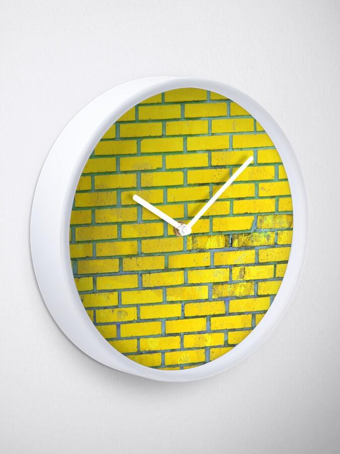 Alternate view of Yellow bricks Clock