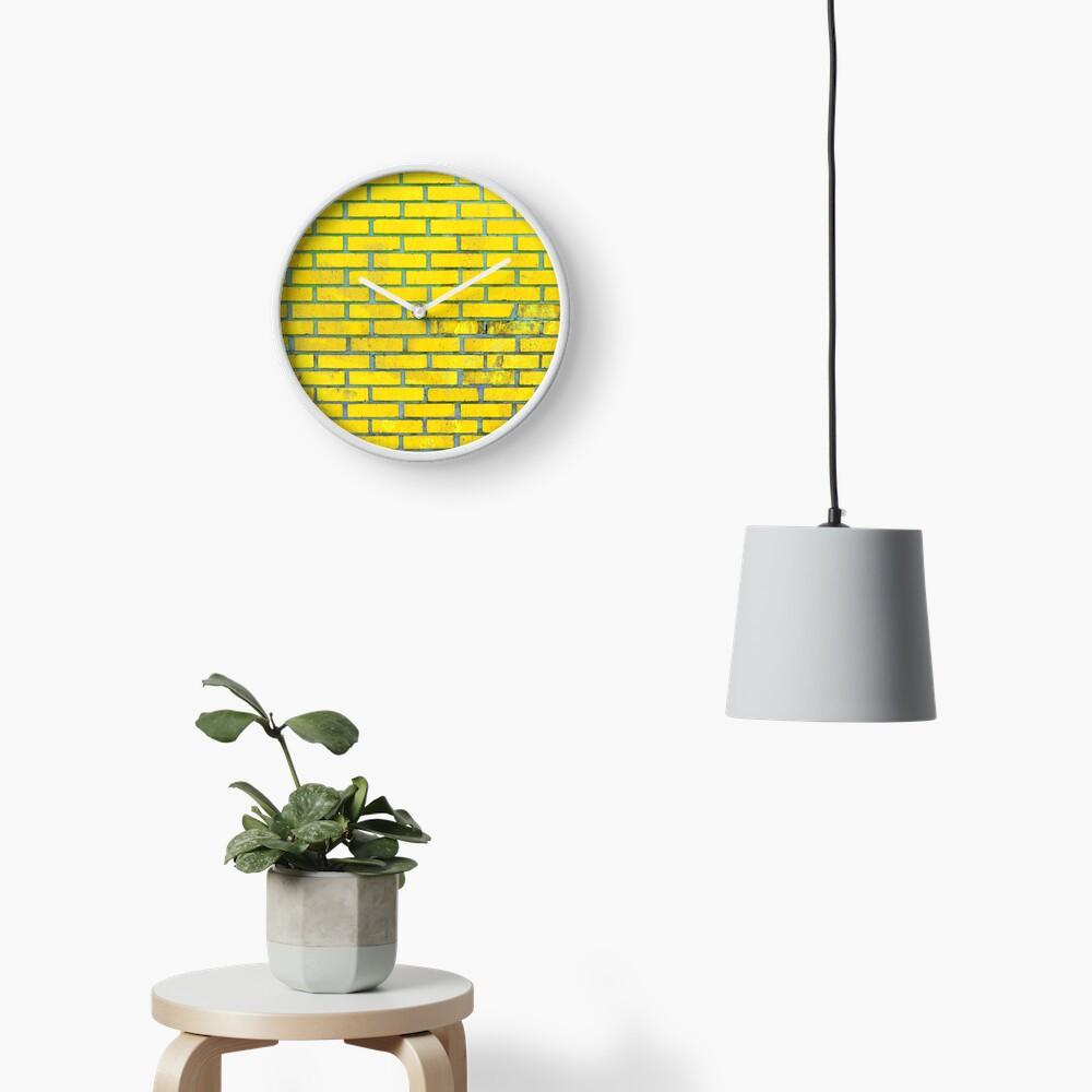 Yellow bricks Clock