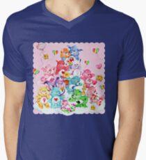Care Bear, Care Bear Cousins, Retro 80s Cartoon Cute Men's V-Neck T-Shirt