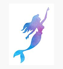 Mermaid Watercolor Photographic Print