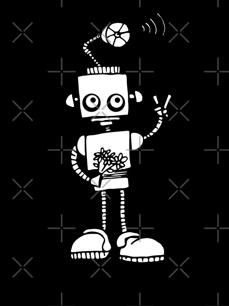 Peace Robot - White by jitterfly