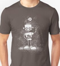 Peace Robot - white splat Unisex T-Shirt
