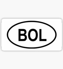 "Bolivia ""BOL"" Country Code Sticker"