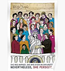 She Persisted. - The Women's March Inaugural Poster