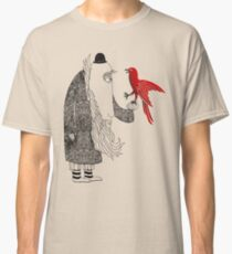 Darwin and red bird Classic T-Shirt