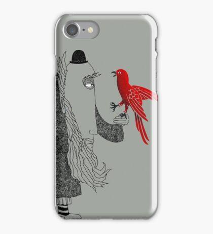 Darwin and red bird iPhone Case/Skin