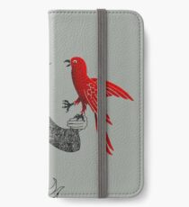 Darwin and red bird iPhone Wallet/Case/Skin