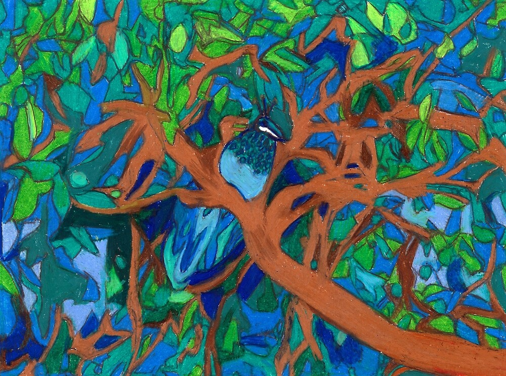 A Very Pretty Peacock in a Pear Tree by Denise Weaver Ross