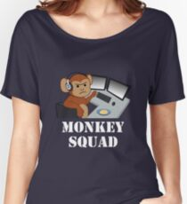 Monkey Squad (white text) Women's Relaxed Fit T-Shirt