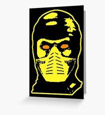 Scorpion Warhol Kombat Greeting Card