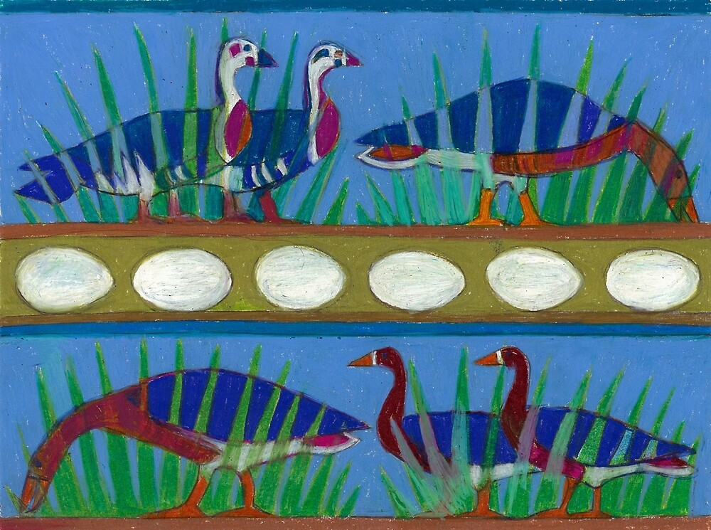 Six Geese-A-Laying by Denise Weaver Ross