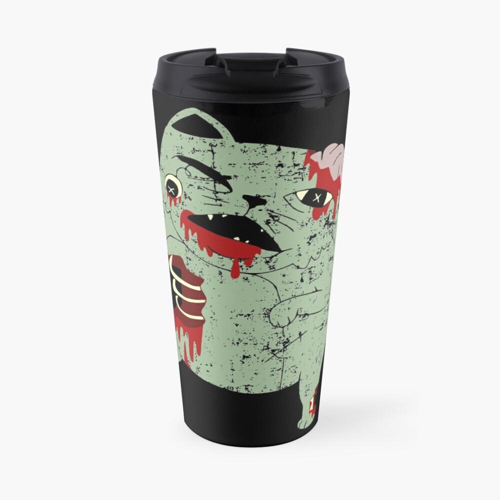 Zombie Cat Travel Mug
