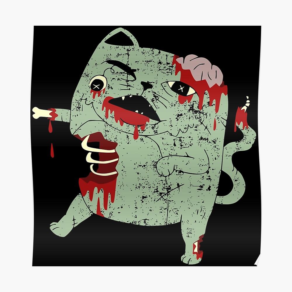 Zombie Cat Poster