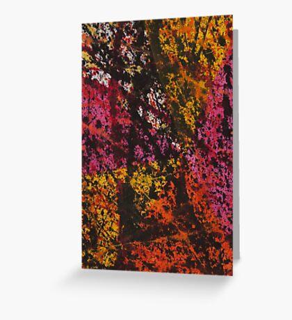 Corner Splatter # 12 Greeting Card