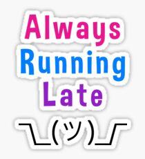 Always Running Late Shrug Emoji Smiley Sticker