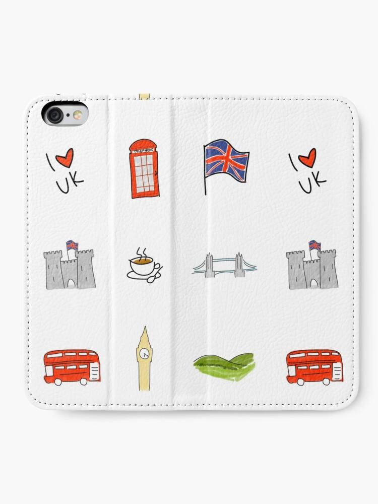 Alternative Ansicht von I Herz Großbritannien, britische Liebe, BRITISCHE Marksteine iPhone Flip-Case