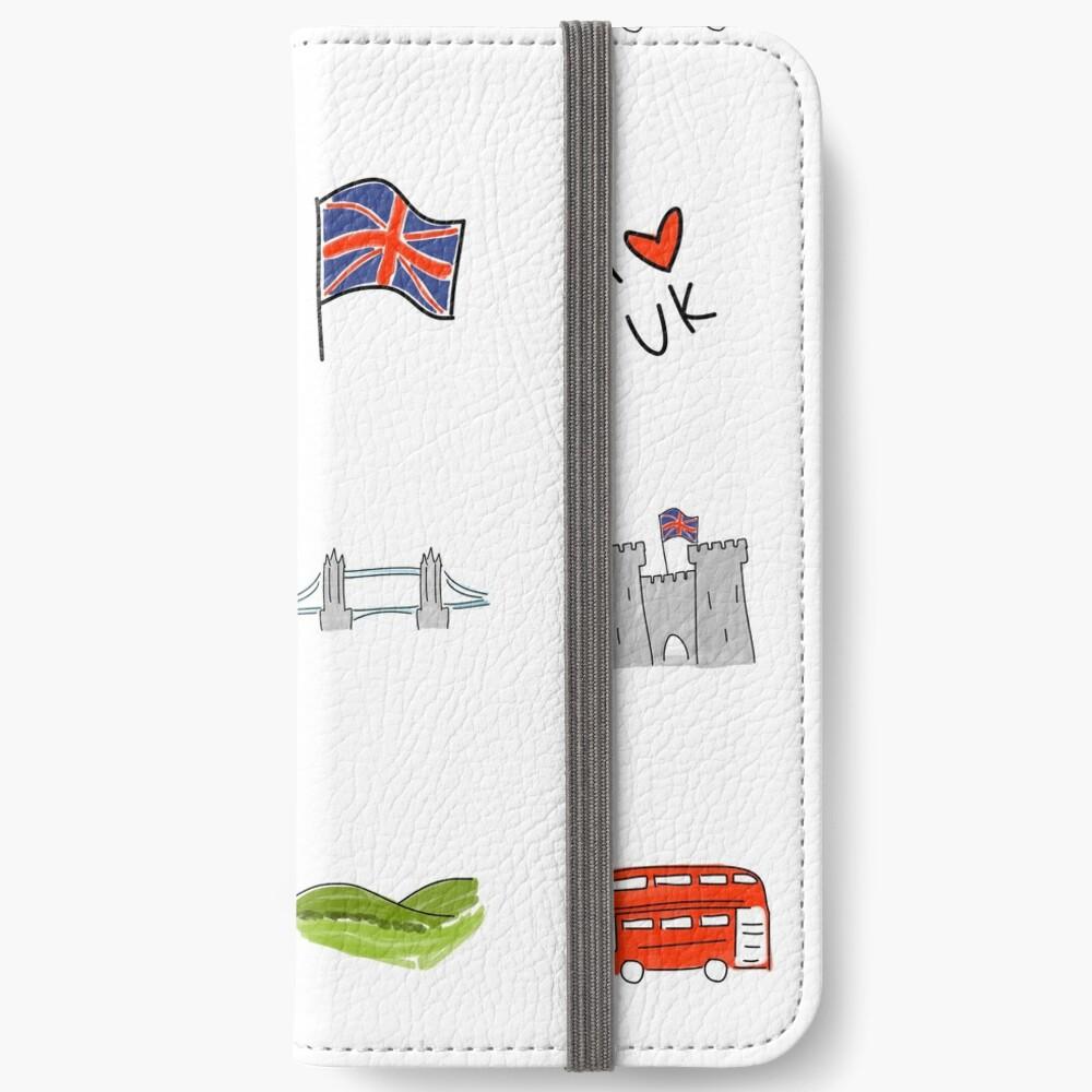 I Herz Großbritannien, britische Liebe, BRITISCHE Marksteine iPhone Flip-Case