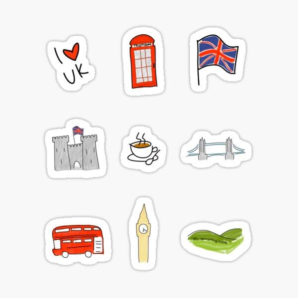 Thema Selbstklebeetiketten London-51 12 London Sticker