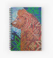 Otso in the Moonlight Spiral Notebook
