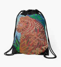 Otso in the Moonlight Drawstring Bag