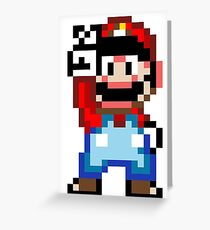 16 bit Mario - Peace Greeting Card