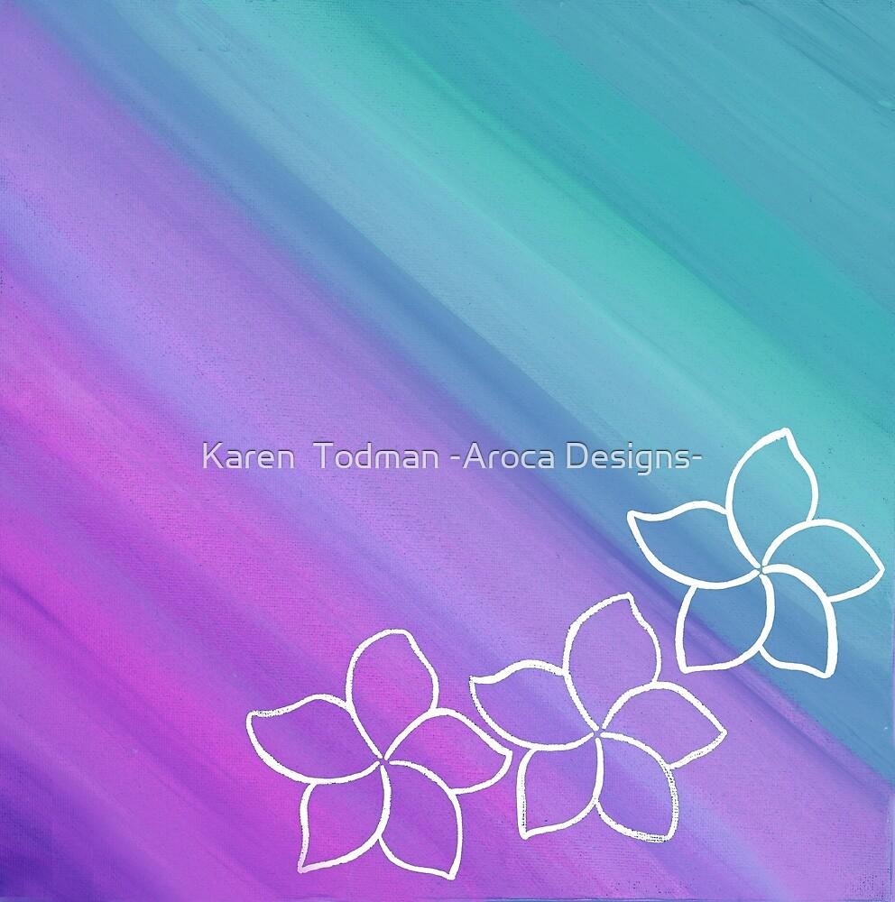 Frangipani 2 by Karen  Todman -Aroca Designs-