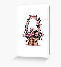 Beautiful Flower Basket Greeting Card