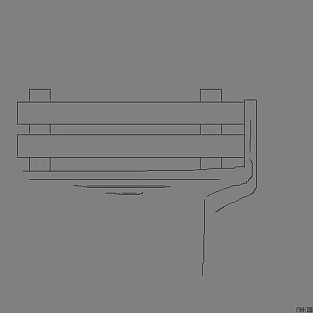 cement park bench in grey 5 by mhkantor