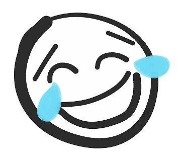Funny Smiley Emoji Face, Emoticon Expression LOL by mDeltaV