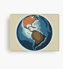 Planet earth color sketch (american continent) 1 Canvas Print