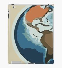 Planet earth color sketch (american continent) 1 iPad Case/Skin