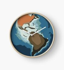 Planet earth color sketch (american continent) 1 Clock