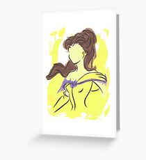 Disney Paint Collection: Belle Greeting Card