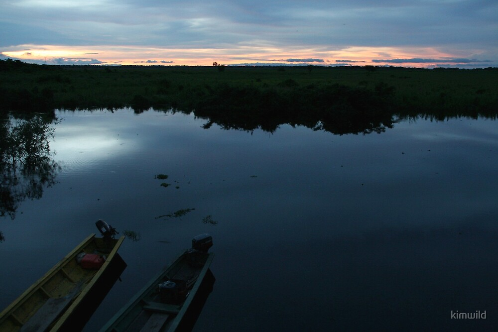 The end of a day on the river by kimwild