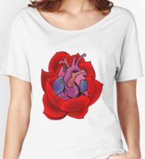 Blossoming Heart Women's Relaxed Fit T-Shirt