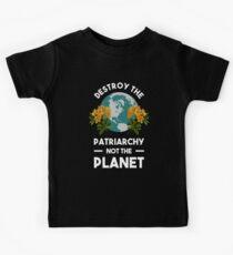 Zerstöre das Patriarchat nicht den Planeten Kinder T-Shirt