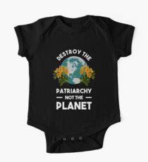 Body de manga corta para bebé Destruye el patriarcado, no el planeta
