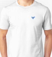 Pretty Purple Blue Heart Print, Beautiful Summer Love Hearts Unisex T-Shirt