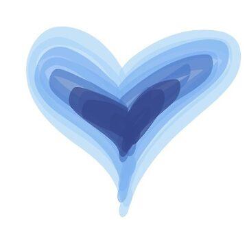Pretty Purple Blue Heart Print, Beautiful Summer Love Hearts by mDeltaV