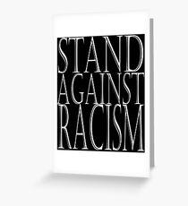 Tarjeta de felicitación STAND CONTRA EL RACISMO