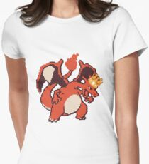 King-Charizard Womens Fitted T-Shirt