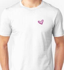 Pretty Purple Heart Print, Watercolor Painted Love Hearts T-Shirt