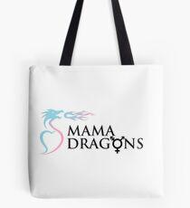 T-Mama Dragons Logo (Black Letters) Tote Bag
