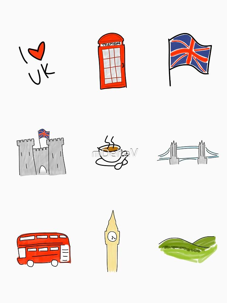 I Herz Großbritannien, britische Liebe, BRITISCHE Marksteine von mDeltaV