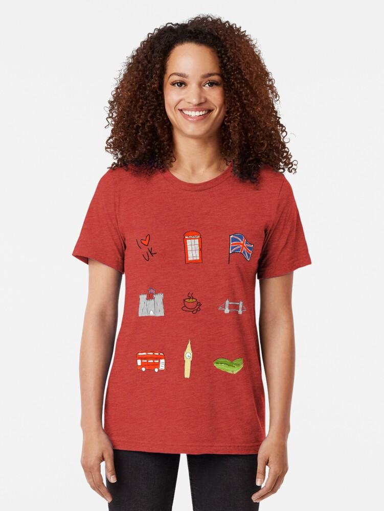 Alternative Ansicht von I Herz Großbritannien, britische Liebe, BRITISCHE Marksteine Vintage T-Shirt